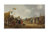 A Military Encampment, 1634 Giclee Print by Palamedes Palamedesz