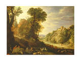 A Mountain Landscape, 1626 Giclee Print by Paul Brill Or Bril