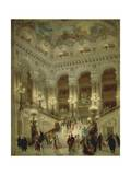 Staircase of Paris Opera, 1877 Giclee Print by Louis Beroud