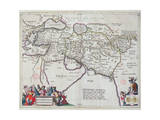 Map of the Travels of Alexander the Great Giclee Print by Willem And Joan Blaeu