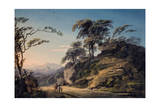 View at Barberi Mile, Near Linton, North Devon Giclee Print by Paul Sandby