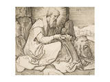 St. Jerome, 1513 Giclee Print by Lucas van Leyden