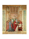Pope Sixtus IV Installs Bartolommeo Platina as Director of the Vatican Library, C. 1477 Giclee Print by Melozzo Da Forli