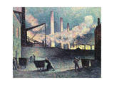 Factory Chimneys at Couillet, 1903 Giclee Print by Maximilien Luce
