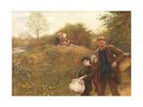 Moving On, 1891 Giclée-Druck von Hubert von Herkomer