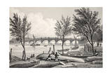 Vauxhall Bridge from Millbank Giclee Print by Thomas Hosmer Shepherd