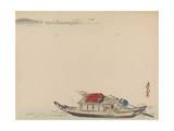 A River Boat Giclee Print by Shibata Zeshin