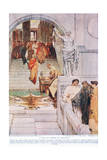 A Visit of Agrippa to Augustus Giclee Print by Sir Lawrence Alma-Tadema