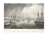West India Docks Giclee Print by Thomas Hosmer Shepherd