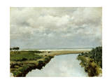 Mouth of Ombrone River Giclee Print by Tito Conti
