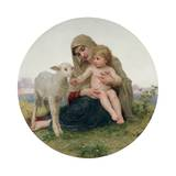 La Vierge a L'Agneau, 1903 Giclee Print by William Adolphe Bouguereau