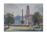 Fountain, Rajpath, New Delhi, 2013 Giclee Print by Tim Scott Bolton