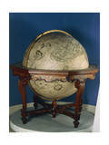 Earth Globe, 1688 Giclee Print by Vincenzo Coronelli