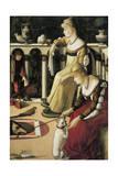 Two Venetian Ladies Giclee Print by Vittore Carpaccio