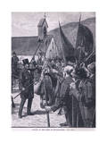 Muster of the Irish at Mullinahone Ad 1848 Giclee Print by William Barnes Wollen