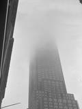 Incredible Foggy Scene over Empire State Building Area Photographic Print