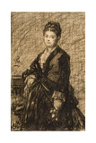Sketch for Portrait of Mary B. Claflin Giclee Print by William Morris Hunt