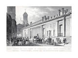 East Front of the Bank of England and New Tower of the Royal Exchange from St Bartholomew Bank Giclee Print by Thomas Hosmer Shepherd
