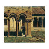 Cloister of San Zeno in Verona Giclee Print by Vincenzo Cabianca