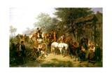 A Village Wedding, 1859 Giclee Print by William Hahn