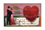 Valentine's Greetings Postcard Giclee Print