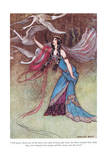 The Queen Threw One of the Shirts Giclee Print by Warwick Goble