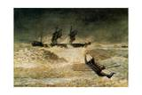 The Wreck of the Iron Cloud, 1881 Giclee Print by Winslow Homer