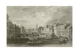Grand Parade in Cork Giclee Print by William Henry Bartlett