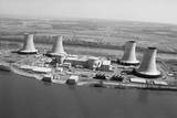 Aerial View of Three Mile Island Power P Photographic Print