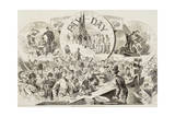 "Pay Day in the Army of the Potomac, from ""Harper's Weekly"", February 28, 1863 Giclee Print by Winslow Homer"