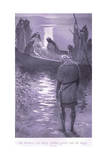Sir Bedivere Put King Arthur Gently into the Barge Giclee Print by William Henry Margetson
