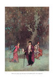 When the Lady Came Giclee Print by Warwick Goble