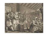 "A Harlot's Progress, Plate 4 from the Series ""A Harlot's Progress"", April 1732 Giclee Print by William Hogarth"