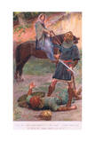 """Let Be, Thou Foul Knave!"" She Said ""Slay Him Not. If Thou Do , Thou Shall Repent It"" Giclee Print by William Henry Margetson"