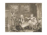 "A Harlot's Progress, Plate 2 from the Series ""A Harlot's Progress"", April 1732 Giclee Print by William Hogarth"