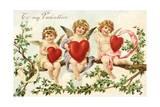 To My Valentine Victorian Valentine Giclee Print by David Pollack