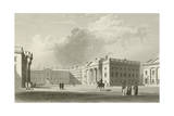 Parliament Square in Dublin Giclee Print by William Henry Bartlett