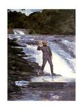 An Angler, 1874 Giclee Print by Winslow Homer