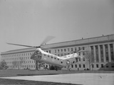 The Flying Banana Taking off from the Pentagon Photographic Print