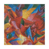 Plastic Forms of a Horse, 1913 - 1914 Giclee Print by Umberto Boccioni