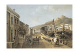South Africa, Cape Town, Wale Street and St George's Cathedral Giclee Print by Thomas William Bowler