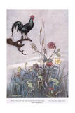 When the Cock Crowed for the Third Time Giclee Print by Warwick Goble