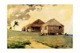 Upcoming Tornado, Bahamas, 1885 Stampa giclée di Winslow Homer