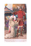 Then Sir Percivale's Sister Hung the Sheathed Sword Upon the Girdle Giclee Print by William Henry Margetson