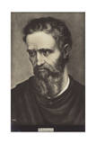 Michelangelo, Italian Sculptor, Painter and Architect Giclee Print