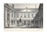 St Thomas's Hospital and Statue of King Edward VI Giclee Print by Thomas Hosmer Shepherd