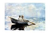 Rowing the Boat, 1880 Giclee Print by Winslow Homer