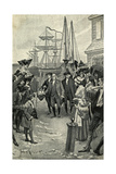 Illustration of Benjamin Franklin's Return to Philadelphia by Benjamin West Clinedinst Giclee Print