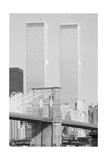 Brooklyn Bridge and World Trade Center Towers Giclee Print