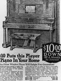 Advertisement for Player Piano Photographic Print